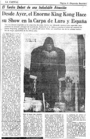 """El debut de King Kong en """"La Feliz"""". (Gentileza Fernando Soto Roland)"""